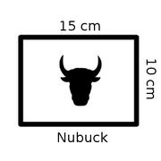 Coupons de cuir de vachette nubuck