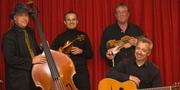 Das Logo der Swing Strings, ein Quartett