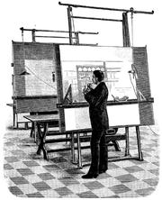 Arquitecto (dibujo de 1893).
