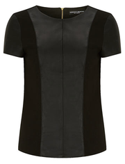 Dorothy Perkins faux leather panel top