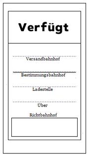 Verfügt-Zettel