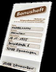 Bonusheft zum Zahnersatz-Zuschuß: Bares Geld wert!