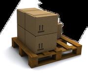 Palette mit Pakete