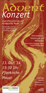 Adventkonzert Flyer