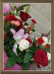 生徒の皆さんからいただいた花束です。ありがとう!!