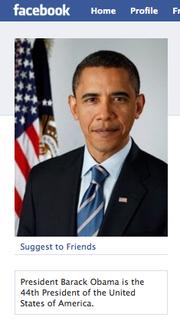 Obama auf Facebook
