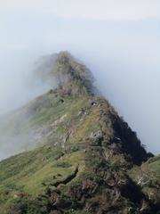 雲海の観光新道。