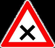 Kreuzung oder Einmündung mit Vorfahrt von rechts
