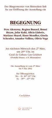 Der Bürgermeister von Binissalem lädt zur Eröffnung ein