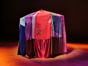 2014『ART гэр 』大ホールにて展示+インスタレーションアート