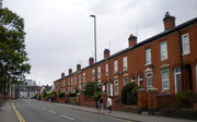 There is a wide variety of housing in Harborne - here terraced houses at the southern end of Harborne High Street. Image from Google Streetview