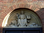 St Barnabas Church - Statue of St Barnabas, one of the Apostles. Traditions differ as to whether St Barnabas was martyyred by being burned or stoned.