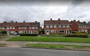 c1950s municipal housing on Garretts Green Lane - image from Google Streetview