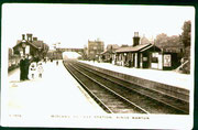 Kings Norton Station 1912. Image, now free of copyright, downloaded from the late Peter Gamble's Virtual Brum website. See Acknowledgements for a direct link to this site.