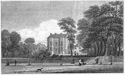 Bingley House in 1830, the original building on the site Bingley Hall. Scanned by oosoom on Wikipedia from R K Dent 1894 'The Making of Birmingham'. Image in the public domain.