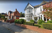 There is a wide variety of housing in Harborne - here large detached houses in Wentworth Road. Image from Google Streetview