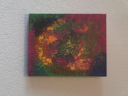 Flower Power, 2018, Fluid Painting auf Leinwand, BxH 40x30 cm