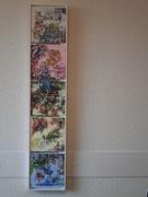 FloralArt 5-teilig, 2018, Acryl auf Leinwand, Schattenfugenrahmen BxH 22x107cm