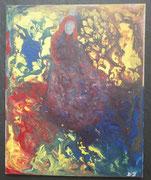 Das Leben ist bunt.,2018, Acryl auf Malplatte, BxH 24x30 cm