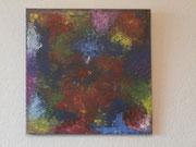 Bunt, 2018, Fluid Painting auf Leinwand, BxH 40x40 cm