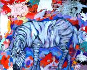 Wenn ich eín Zebra wär..._100x120 cm