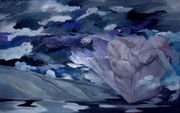 Pimpinella auf der Wolkenbank _100x160 cm
