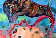 Pimpinella is a tiger  now_ 2010_100 x140 cm