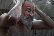 Matthias Gößmann - Haare waschen bei den Ngono Falls; Sambia 2016