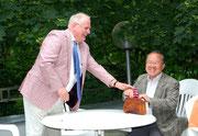 Gute Laune auch beim Botschafter und beim Präsidenten der DJG Berlin