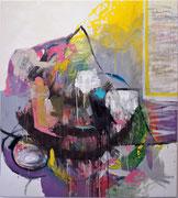 o. T., 2011, Öl und Ölkreide auf Leinwand, 210 x 283 cm