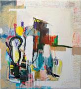 o. T., 2011, Öl, Ölkreide auf Leinwand, 210 x 188 cm