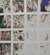 matrix, 2011, Öl und Tape auf Leinwand, 110 x 100 cm