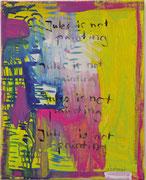 jules is not painting, 2012, Öl, Kugelschreiber auf leinwand, 50 x 40 cm