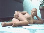 sculpture d'aphrodite a la plage