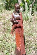 STATUE ''LA FEMME MASSAI ET SON ENFANT''  - 50 €