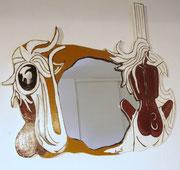 MIROIR ''Femme violoncelle''  - 100 €