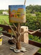 Abats-jour en sable coloré ''La maison jaune''  - 35 €