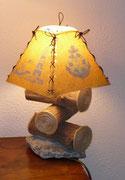 Lampe bois flotté / Abat jour thème la mer - 60 €