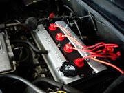 Toyota MR-2 aw11/ Ventildeckel lackiert und Kabel neu...