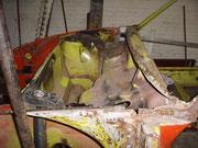 Porsche 914/ Tankraum ohne Scheibenrahmen/Windlauf