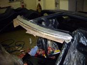 Toyota MR-2 aw11/ Rost am Scheibenrahmen...verursacht durch beschädigung der Lackoberfläche beim rausschneiden...
