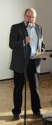 Bürgervorsteher Gerd Herrmann eröffnet den Neujahrsempfang der Stadt mit einem Gedicht von Joachim Ringelnatz