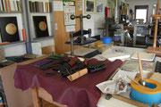 Kunsthandwerk in der Werkstatt für Buch und Bild