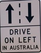 Nicht vergessen, links fahren!