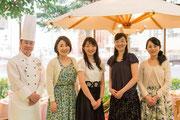 Le Songe代表福島さんとアートホテルズ札幌料理長草野シェフと。