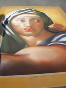 nach michelangelo, strassenmalerei lydia hitzfeld