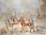 """Fantasia, Maroc"" aquarelle sur papier"