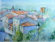 """""""Allemagne-en-Provence"""", aquarelle sur papier"""