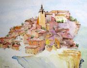 """""""Roussillon"""", aquarelle sur papier"""