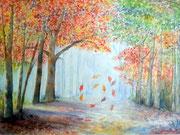 """""""Le vent se lève"""", aquarelle sur toile"""